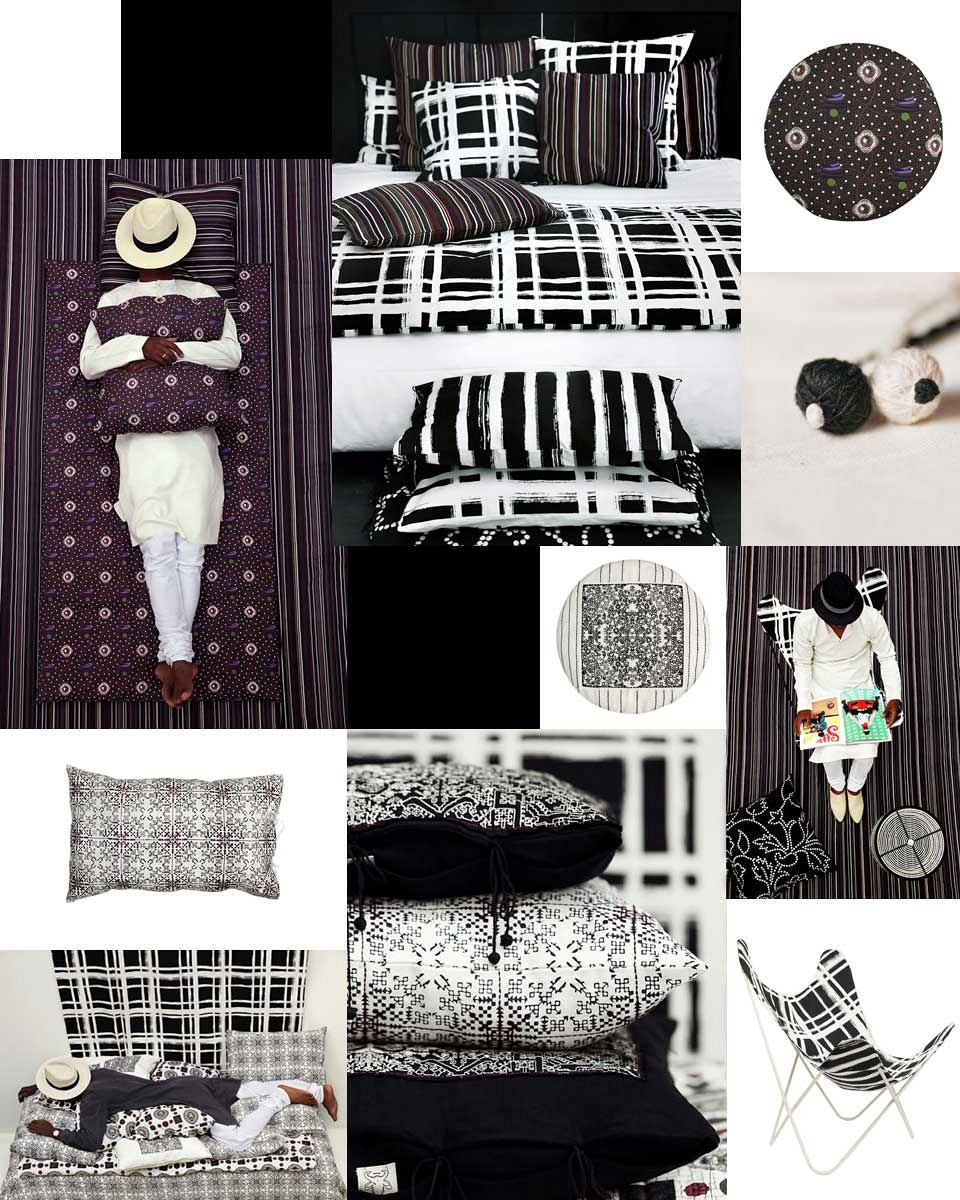 Valerie Barkowski - Collection Black textile design No-mad India