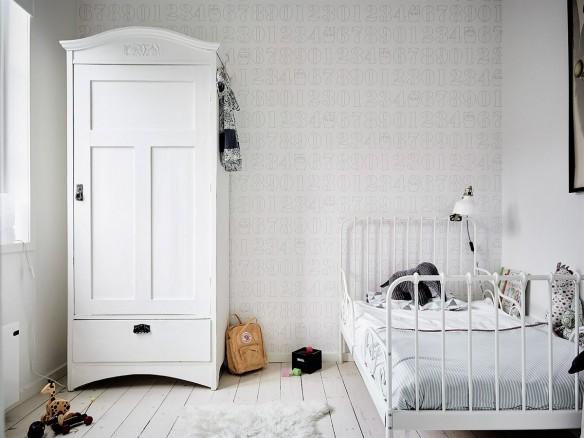 Chambre d 39 enfant monochrome blanche - Decoration chambre blanche ...