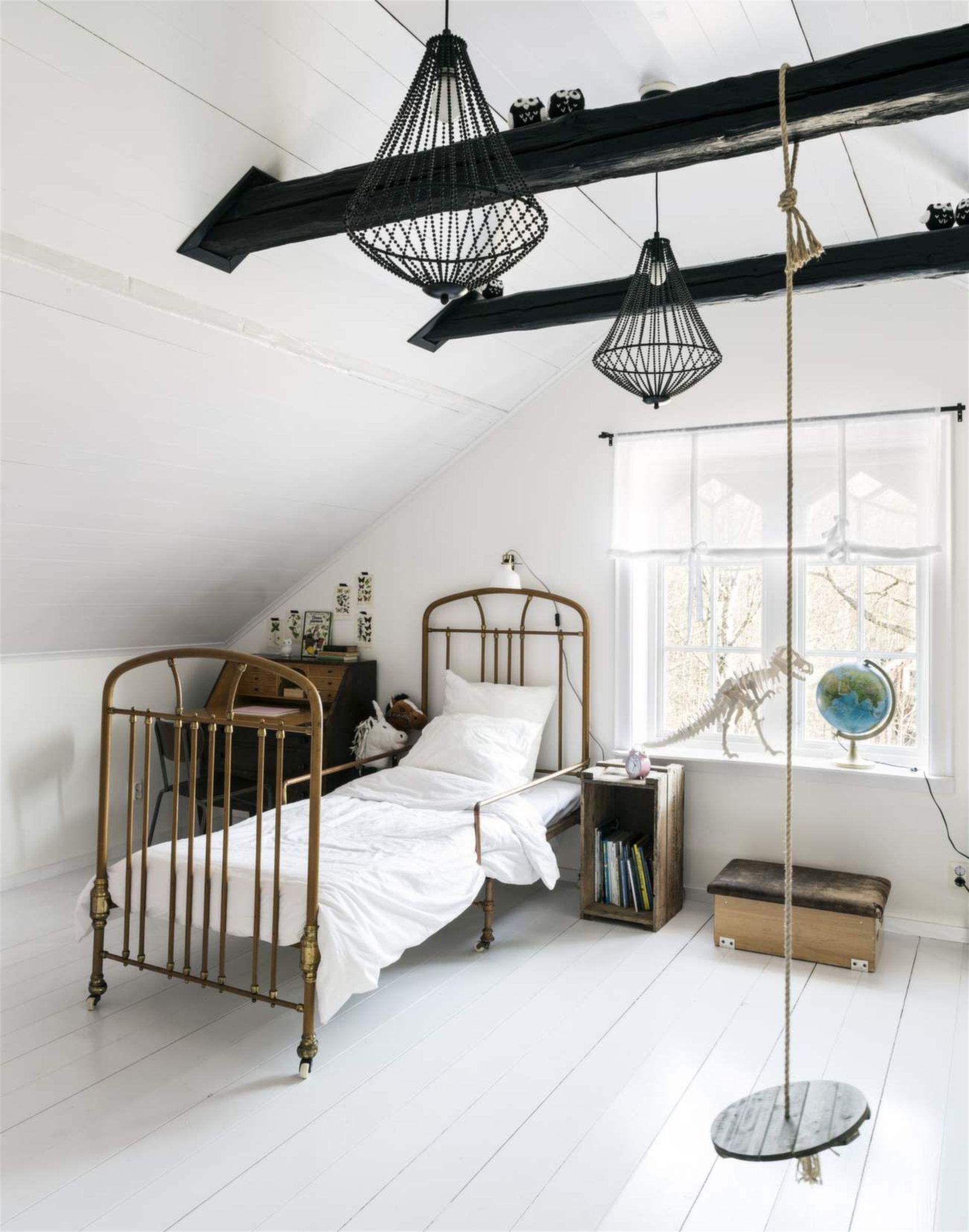 Chambre d 39 enfant monochrome blanche - Deco chambre d enfant ...