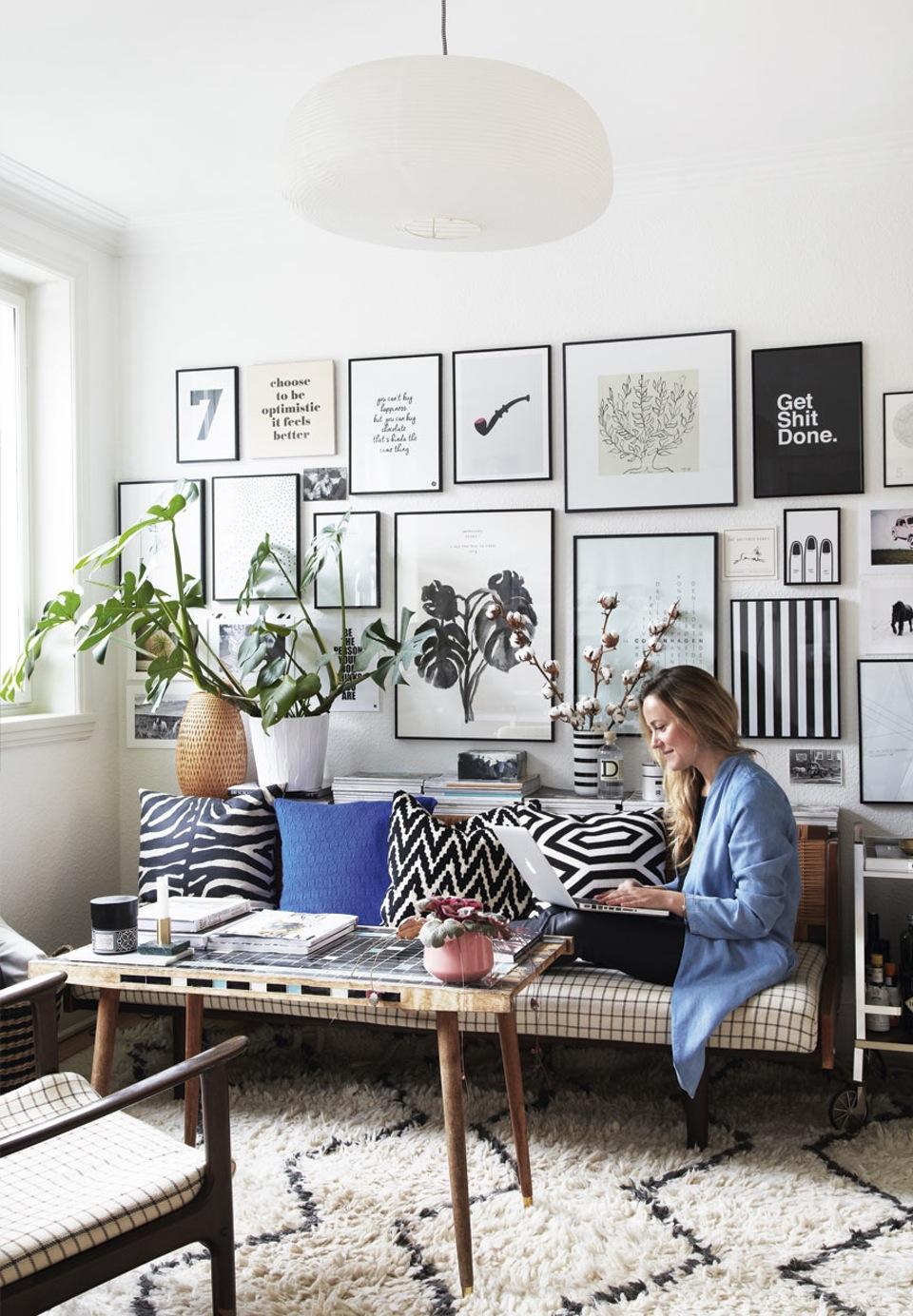 Adopter une déco pastel scandinave - L'intérieur dela blogueuse Emily Salomon