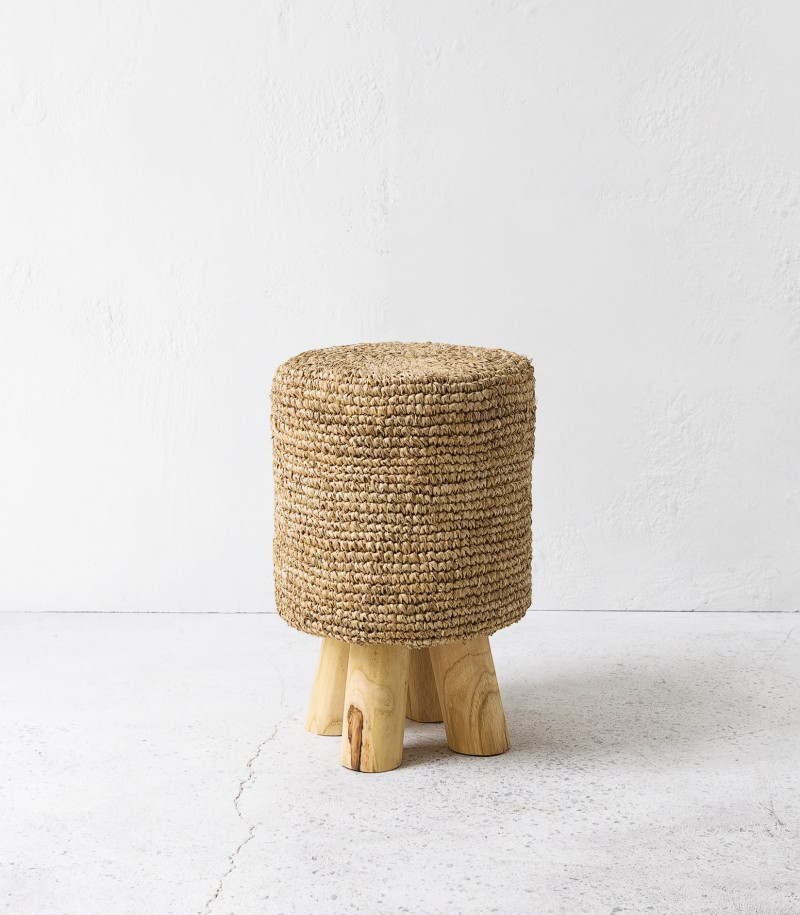 Indie home collective - Natural Woven Stool