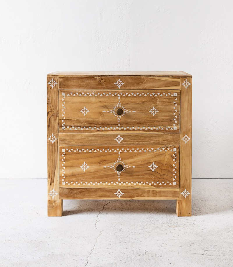 Indie home collective - Shell inlay bedside front