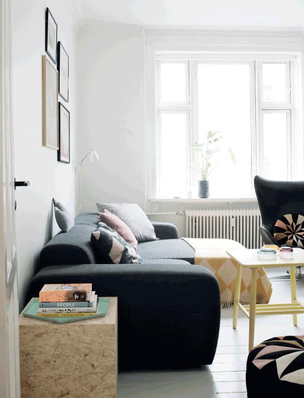 Adopter une déco pastel scandinave - L'intérieur de l'illustratrice Marie Willumsen
