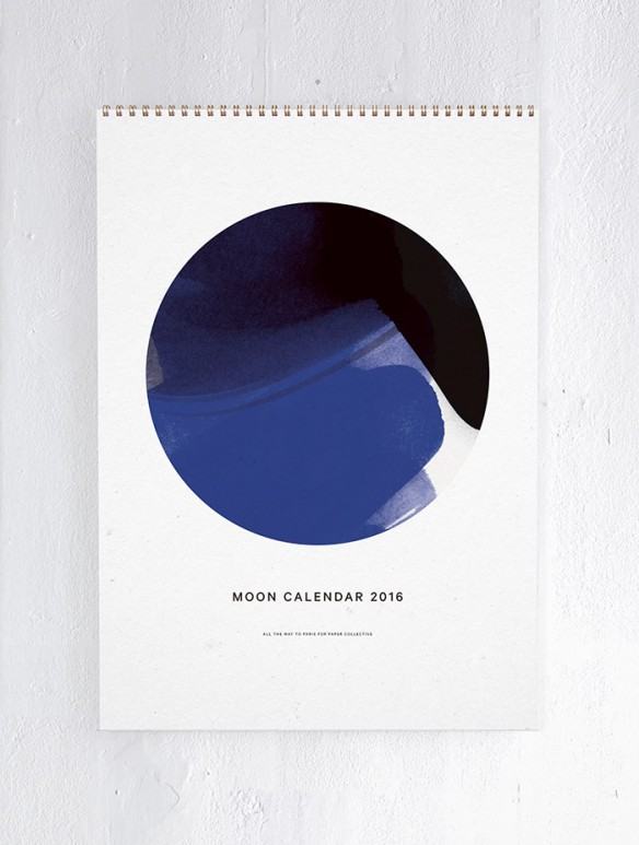 Sélection de calendriers 2016 design et graphiques - Moon Calender 2016 Accessorize your Home