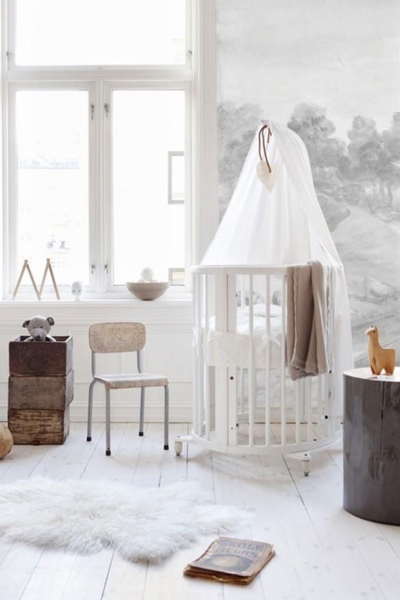 pourquoi pas du blanc pour la chambre de b b. Black Bedroom Furniture Sets. Home Design Ideas