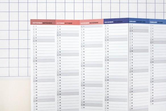 Sélection de calendriers 2016 design et graphiques - Papier Tigre