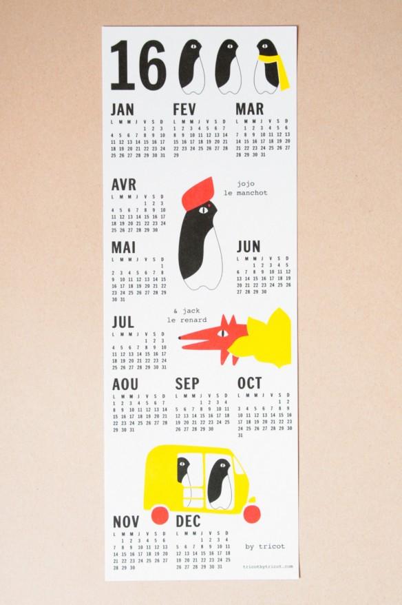 Sélection de calendriers 2016 design et graphiques - Tricot by tricot