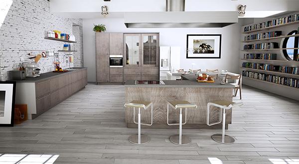 obsession une cuisine am nag e bois et noir. Black Bedroom Furniture Sets. Home Design Ideas