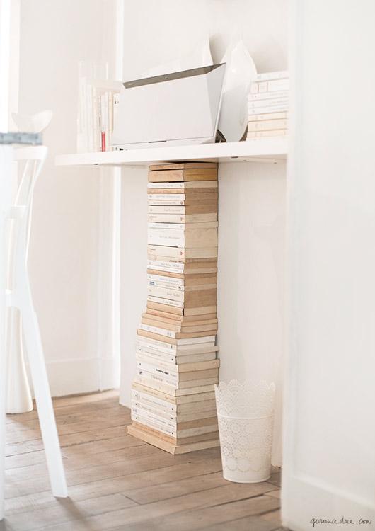 X façon de ranger ses livres de façon improbable -Quand le livre se fait cale