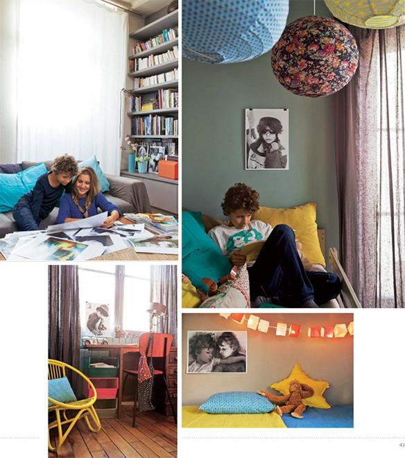 L'appartement parisien d'Odile et Stéphane qui osent la couleur en déco