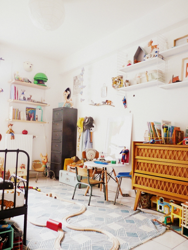 Beautiful chambre vintage retro gallery - Chambre enfant blanche ...