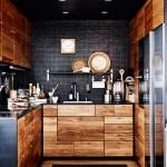 Obsession : Une cuisine aménagée bois et noir