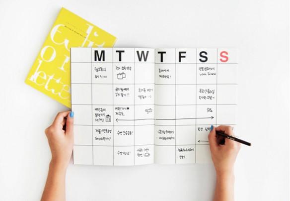 Sélection de calendriers 2016 design et graphiques - Organisateur - FunDesignFair