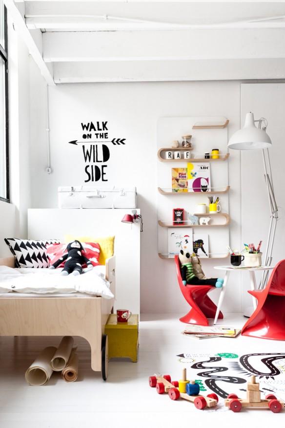 Chambre d'enfant monochrome blanc pour enfants du design