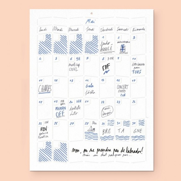 Sélection de calendriers 2016 design et graphiques - Wall memo calendar - Ich&Kar