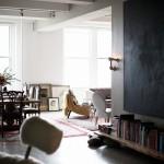 Un loft brut, glamour, éclectique, bref celui d'Andi Potamkin