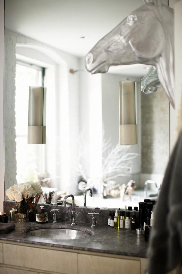 Le loft brut, glamour, éclectique d'Andi Potamkin à New-York