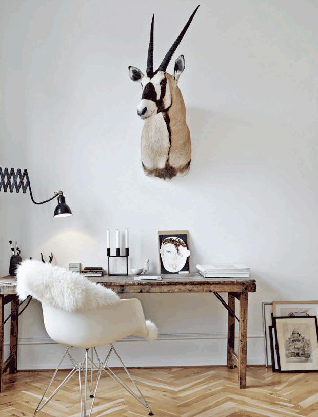 Un appartement de style scandinave réveillé par le style brocante