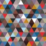 Vite une idée déco : un mur mosaïque de triangles