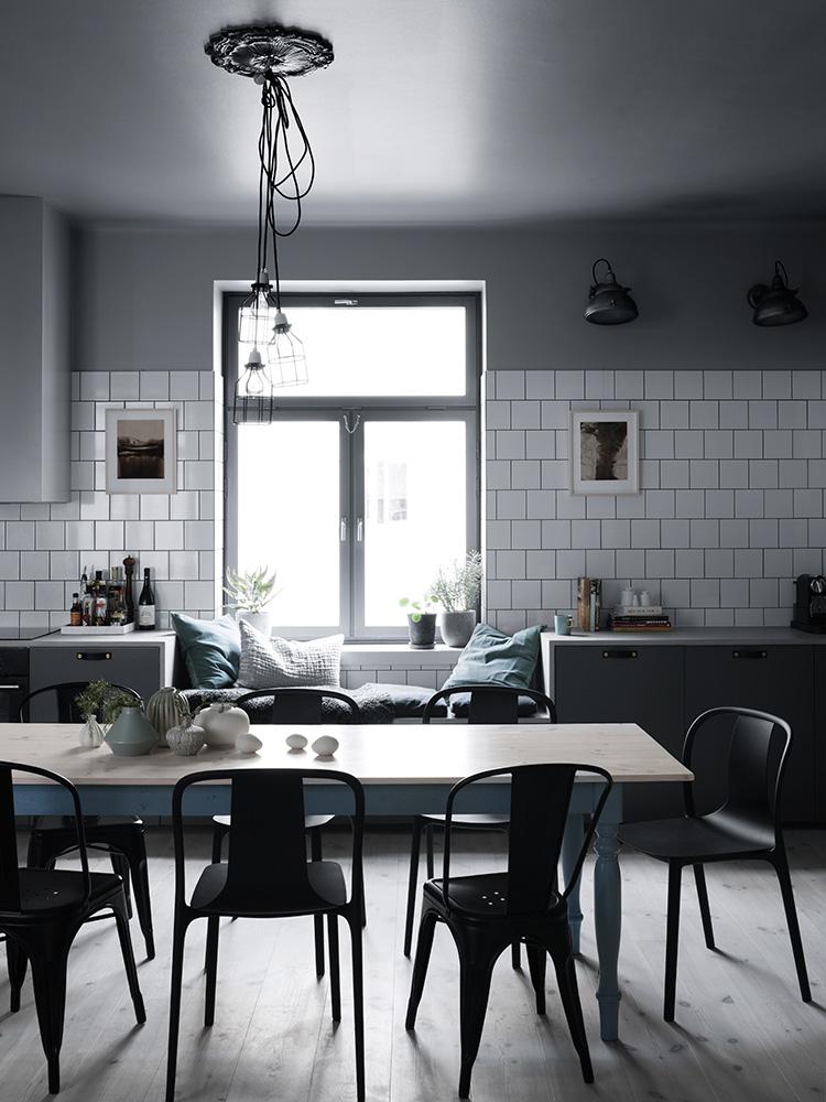 deco salon scandinave industriel. Black Bedroom Furniture Sets. Home Design Ideas