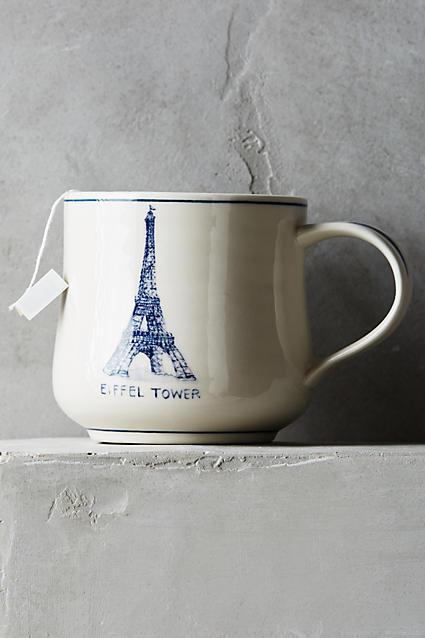 """Anthropologie - Tasse Vignette """"Eiffel Tower"""""""