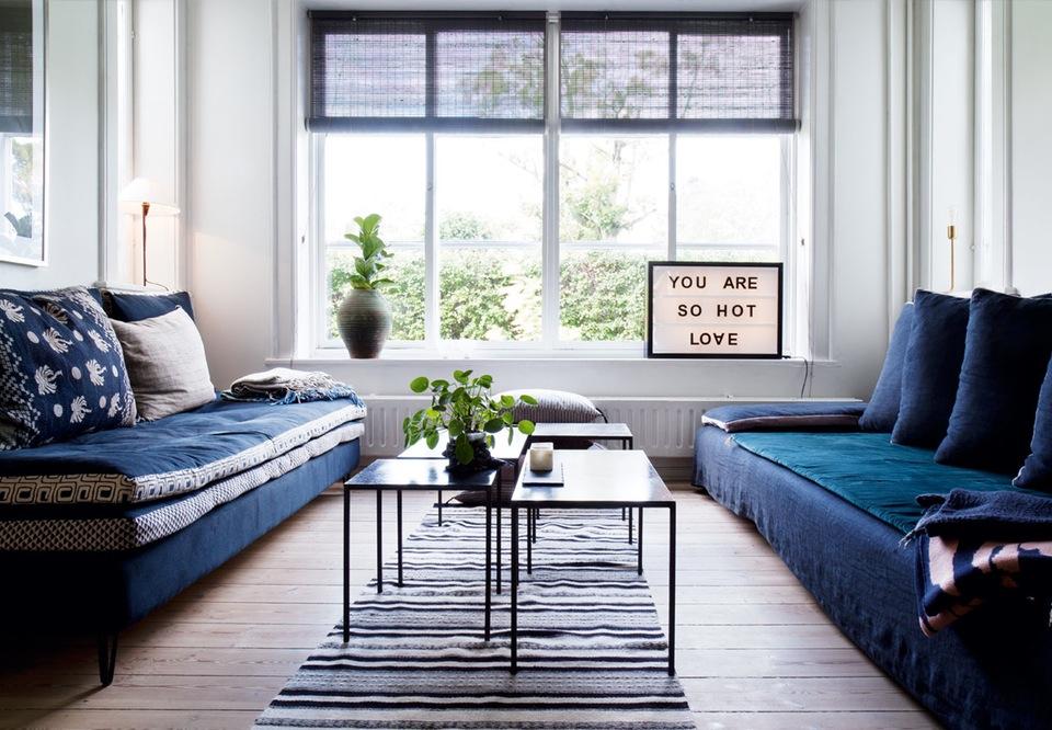 Bleu indigo en décoration d'intérieur || L'intérieur d'Anne Katrine Vrang