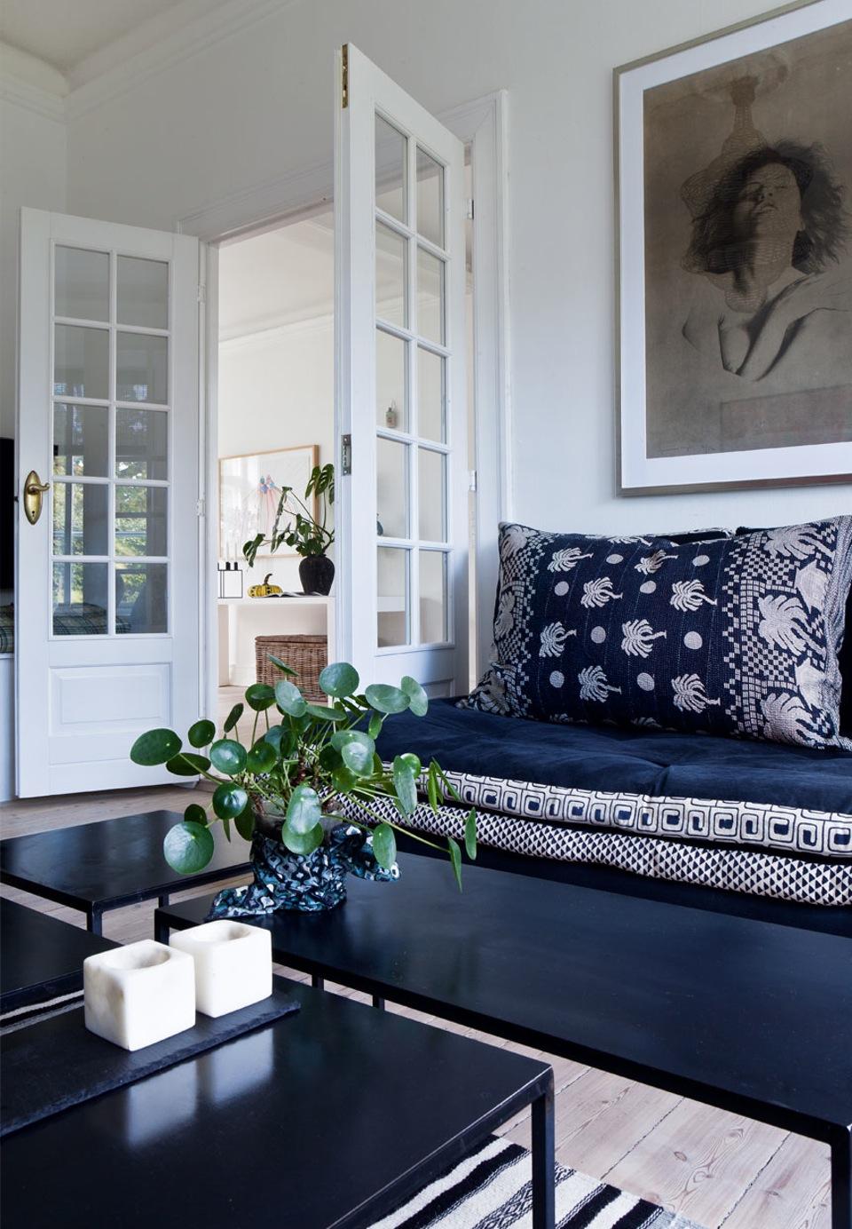 inspiration d co en bleu indigo et blanc. Black Bedroom Furniture Sets. Home Design Ideas