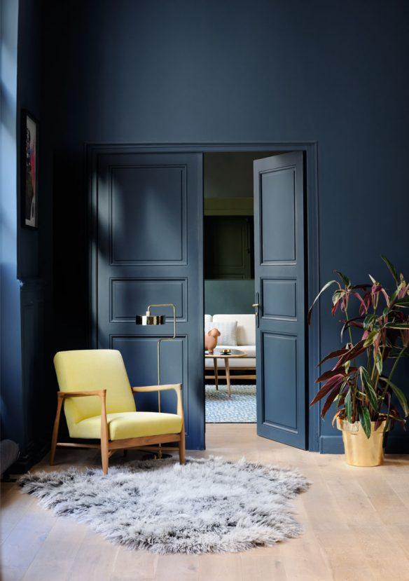 Bleu indigo en décoration dintérieur  Appartement Red Edition
