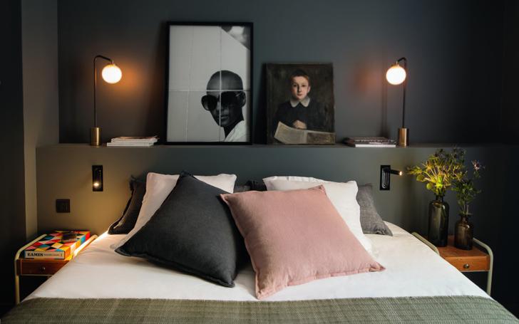 10 idées déco pour une chambre à coucher stylée // Se créer un muret derrière la tête de lit // Hôtel COQ à Paris