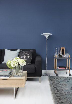 Bleu indigo en décoration d'intérieur || L'intérieur de Kasper Staalsø