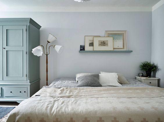 Le choix d'une chambre grise et pastel, toute douce