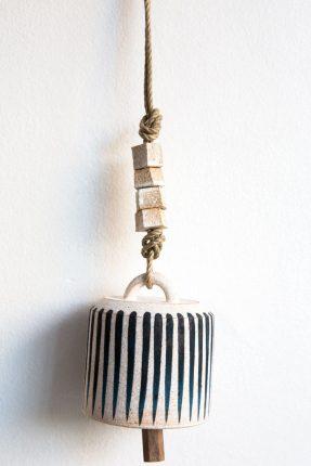 MQuan - Indigo stripe bell