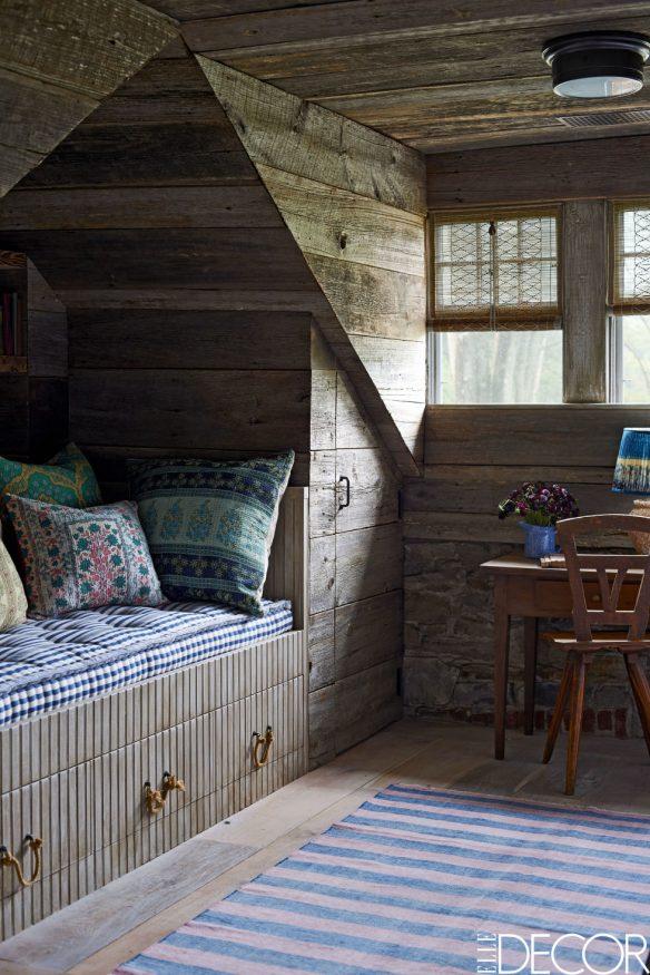 Une maison rustique à l'esprit bohème grâce aux textiles ethniques