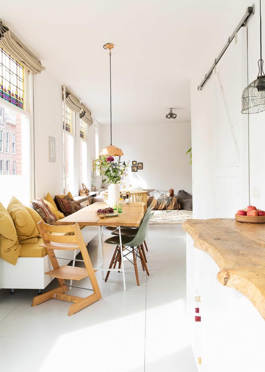 Le fil vert en décoration d'intérieur || Un intérieur à Rotterdam