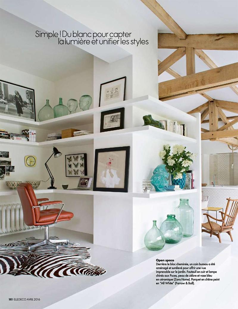 La maison verte de l'architecte Veronika Isker || Extrait Elle Décoration, avril 2016