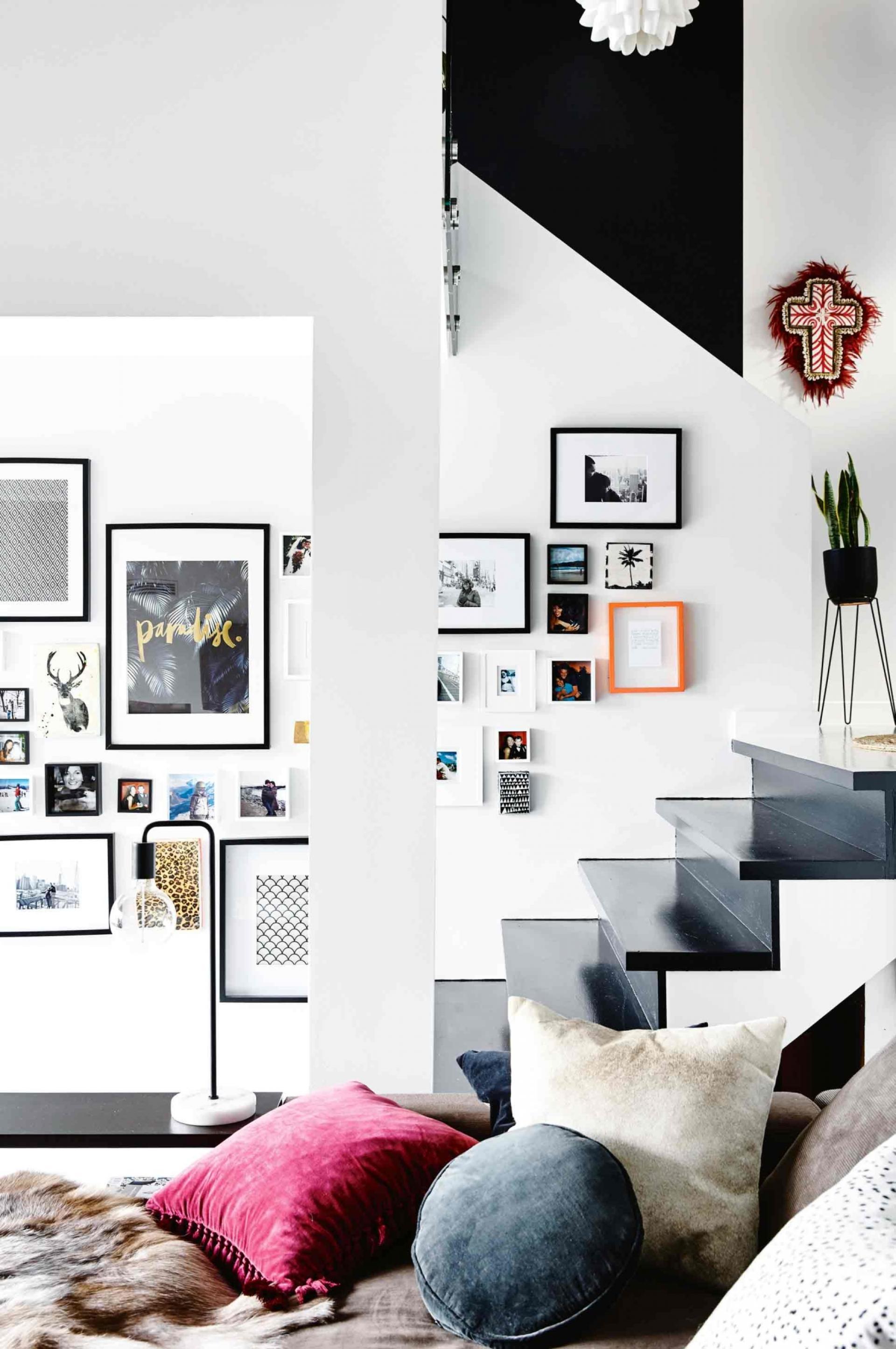 Du noir et blanc pour booster un intérieur vintage à Melbourne