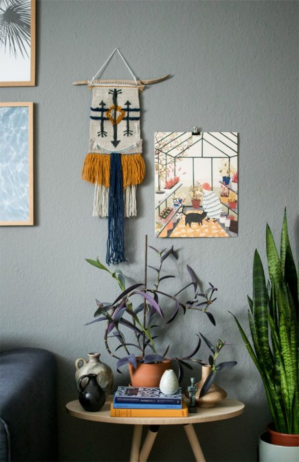Un tissage mural dans ma déco || Urban jungle plants and art macrame par Igor Josifovic