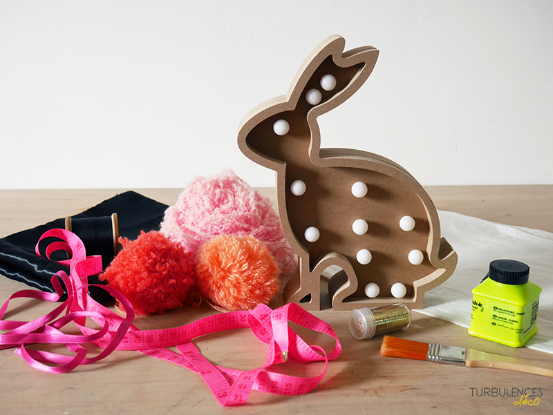 DIY Customiser une lampe Lapin - Turbulences Déco