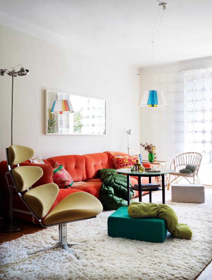 Camper une décoration éclectique || L'intérieur coloré de Marie Dreiman