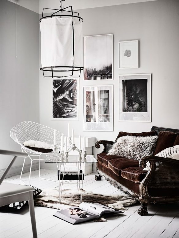 Camper une décoration éclectique || Un appartement à la déco suédoise éclectique