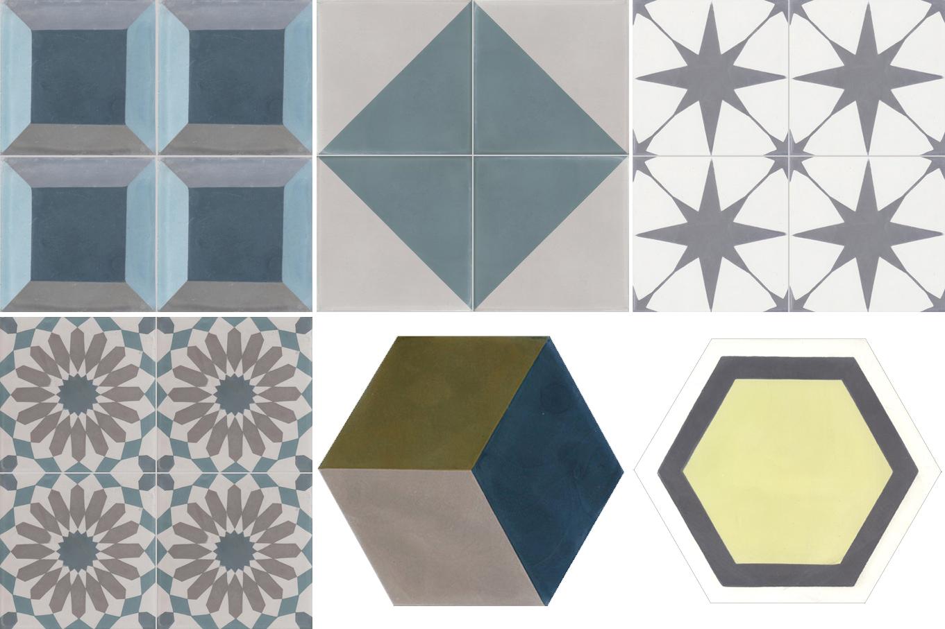 Sélection de carreaux de ciment design || Couleurs et Matières