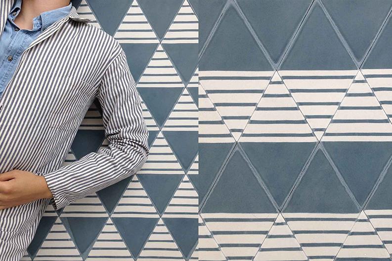 Selection de carreaux de ciment_Popham-design_Shine-north sea et milk