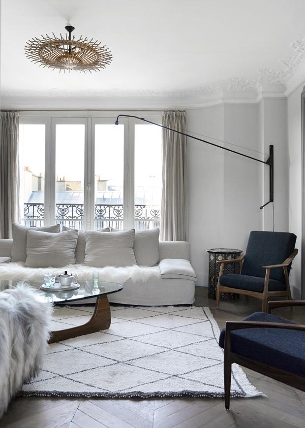Tendance tapis Beni Ouarain_Valérie et Lionel Paris appartement