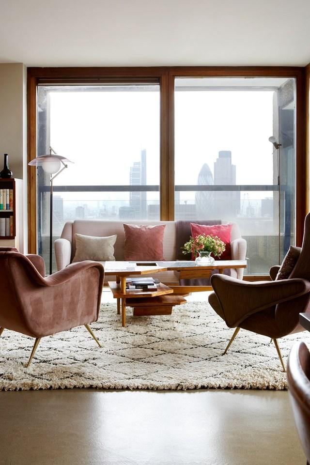 Tendance tapis Beni Ouarain - L'appartement réalisé par Maria Speake alias Retrouvious studio à Londres