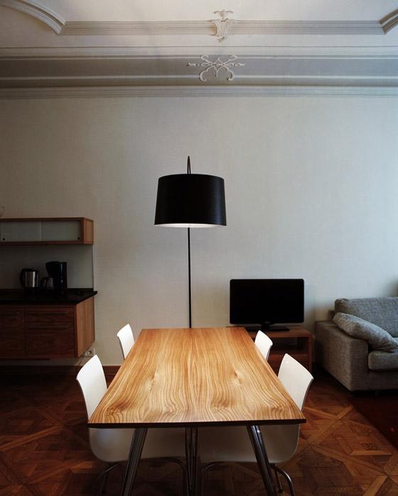 In situ le lampadaire Twiggy de Marc Sadler édité par Foscarini