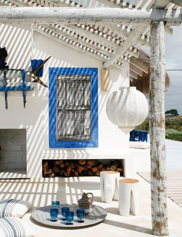 La maison de Pequenina Rodrigues à Comporta : façon cabanon de pêcheur bohème
