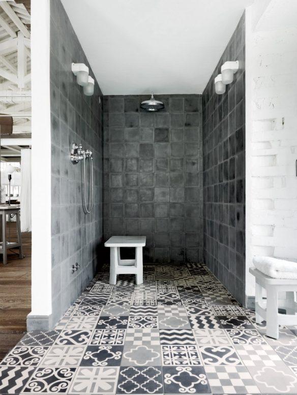 Booster sa déco avec des carreaux de ciment || Un loft à Spello Italie par Paloma Navone