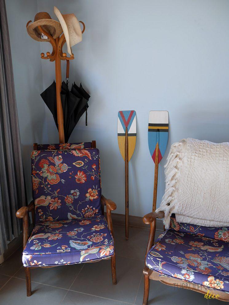 DIY : Décorer des rames avec des motifs géométriques et colorés - Turbulences Déco