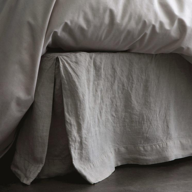 Blanc Cerise - Cache sommier Rêve de lin