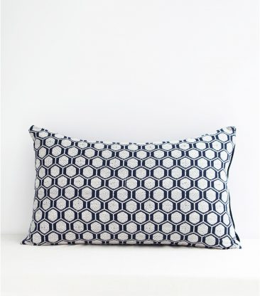 Coussin indien bleu indigo 40x65 cm - Jamini design - Collection AW 2016